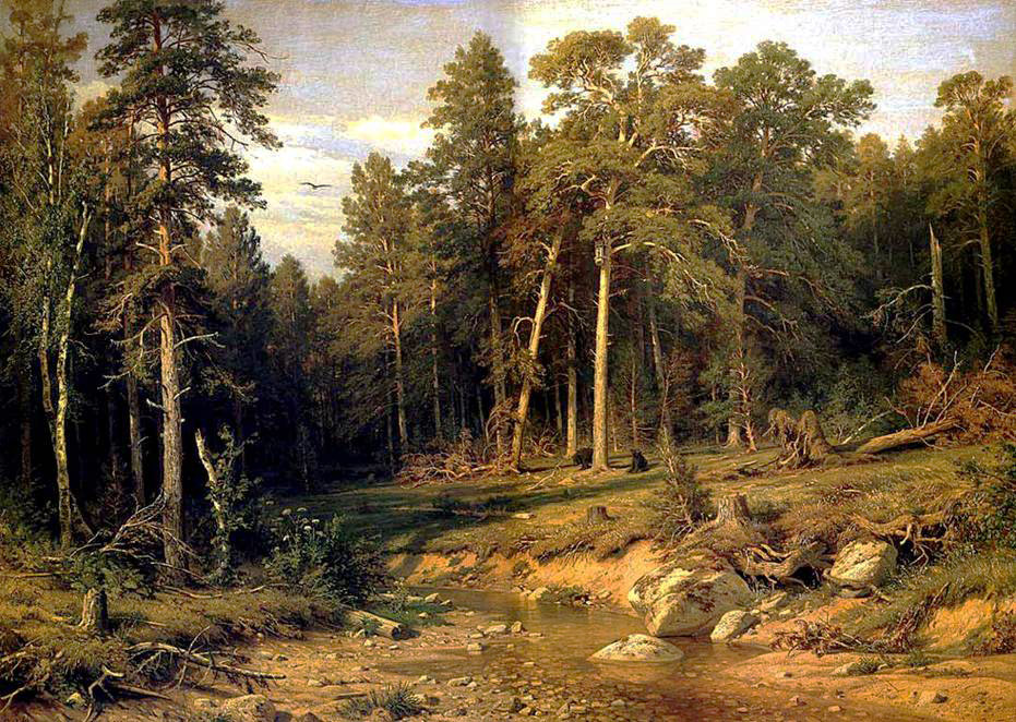 Pine Forest. Ivan Shishkin, 1872 / Ivan Shishkin was sure that Russian nature was inseparable from Russian ideas, life and the nation as a whole. The pine forest at noon is a symbol of the country's slumbering strength.