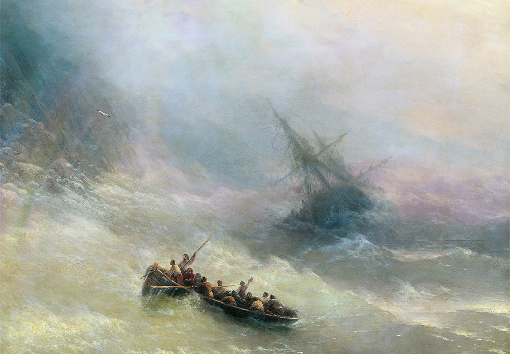 The Rainbow. Ivan Aivazovsky, 1873 / Ivan Aivazovsky is considered the world's greatest painter of seascapes. The rainbow had special significance for romantic-style painters, who admired the beauty of nature even at times of great danger.