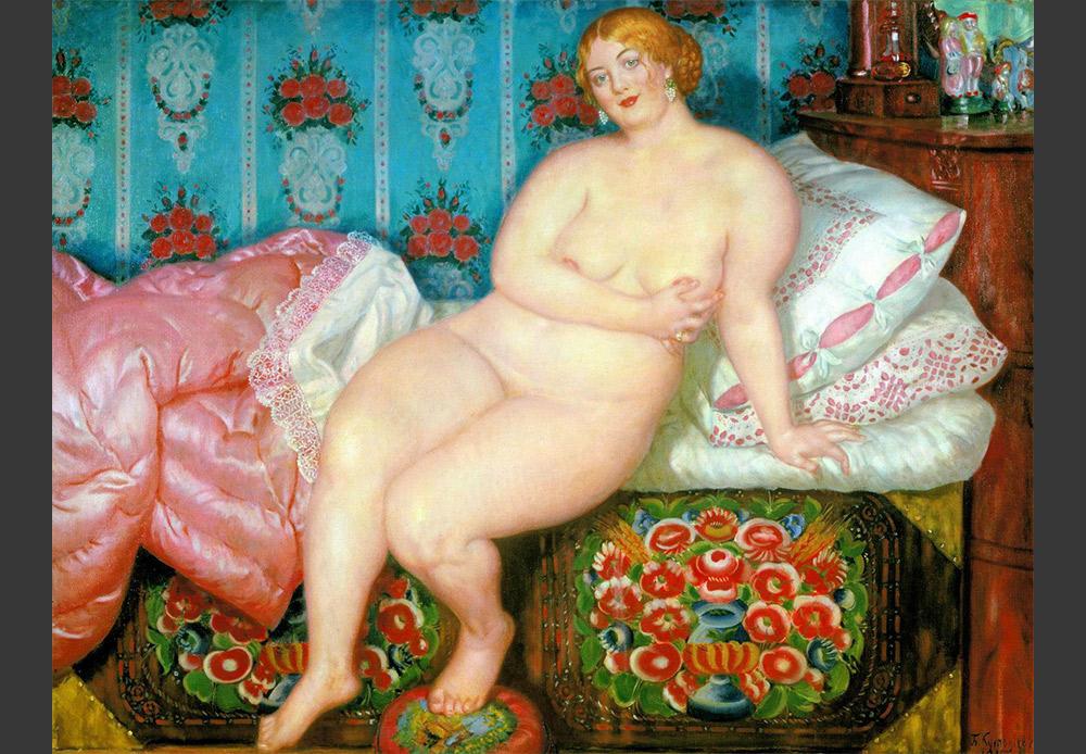 『美貌』、ボリス・クストーディエフ。1915