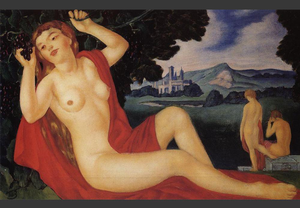 『バッカンテ』、クズマ・ペトロフ=ヴォドキン。1912