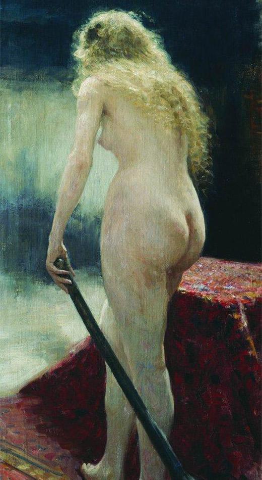 『モデル』、イリヤ・レーピン。1895