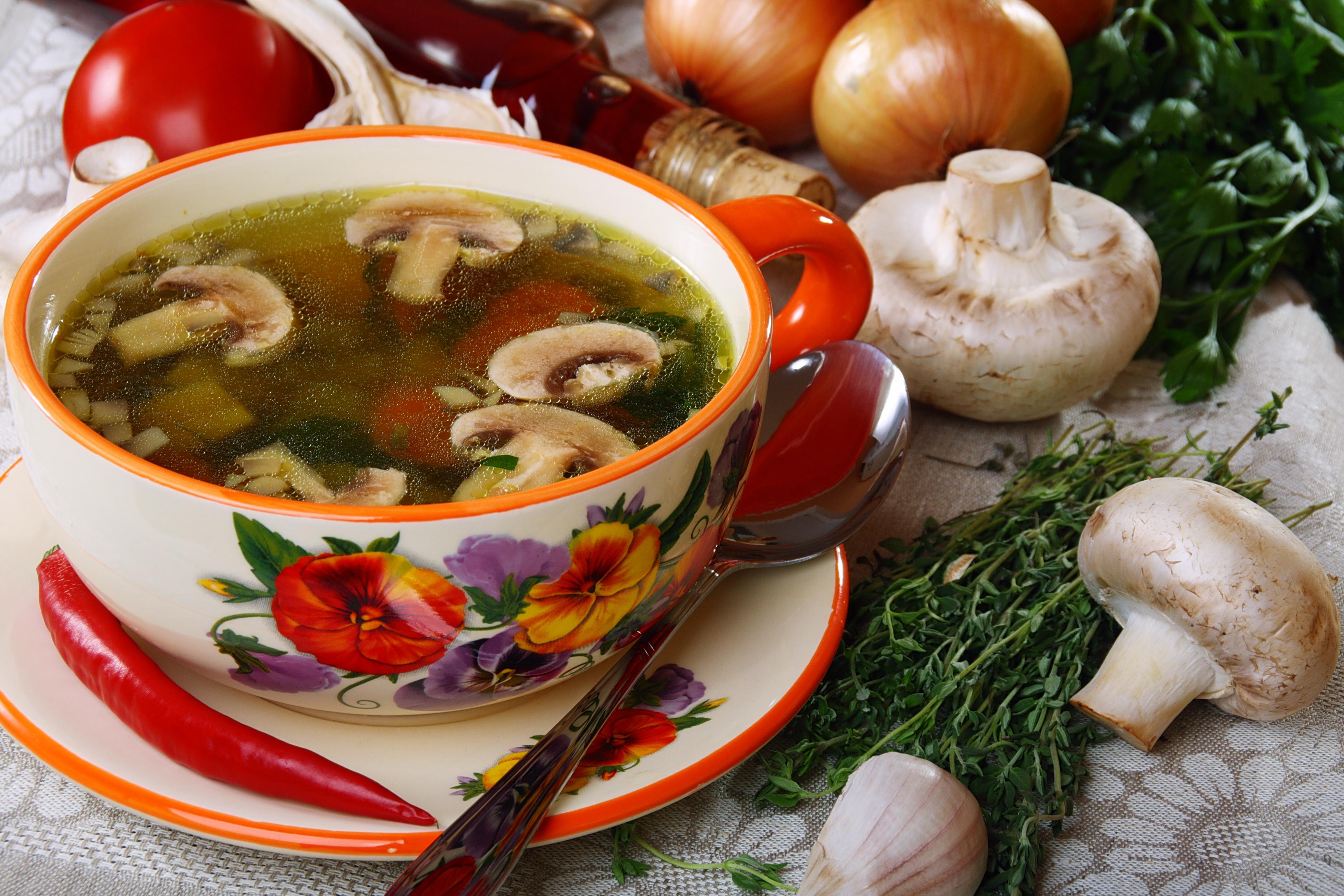 Triple mushroom soup.