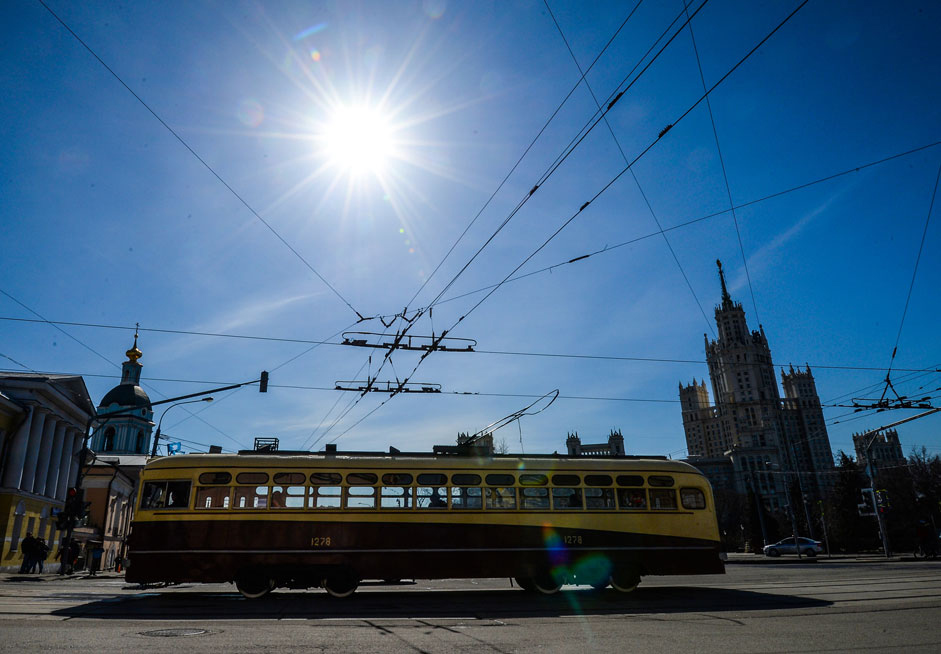 A parade devoted to the 116th anniversary of the first tram's commissioning in Moscow.