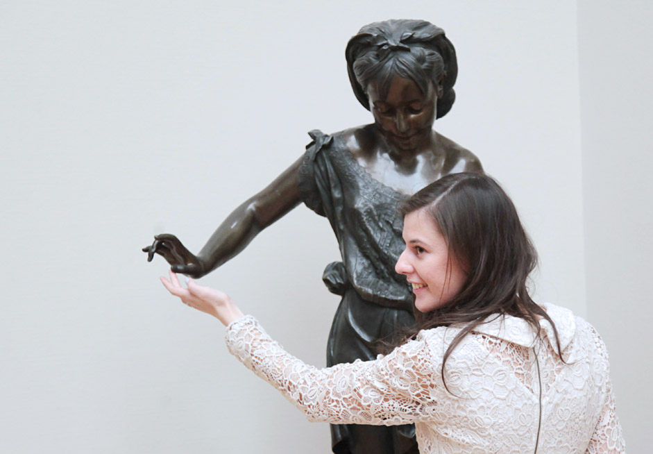 Visitors at State Tretyakov Gallery