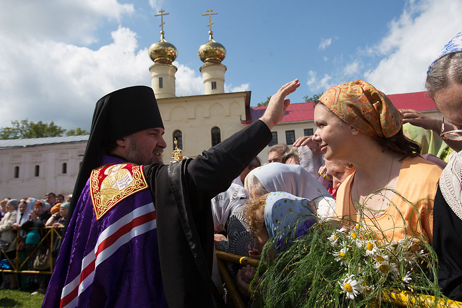 Celebrating 500th anniversary of Assumption Cathedral in Tikhvin, Leningrad Region, July 9