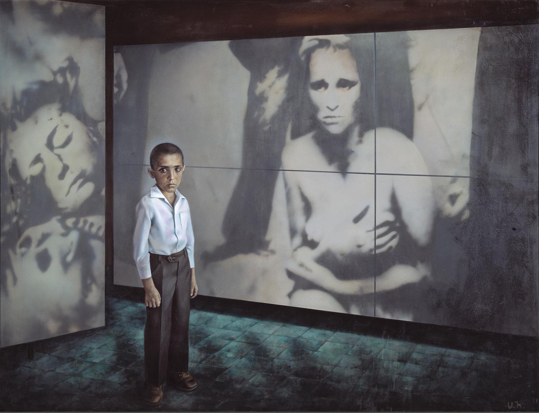 展示されているのはロシア、ウクライナ、エストニア、アルメニアの有名な画家の作品100枚以上。 /オヴセピャン「写真展にて」(1980)、国立トレチャコフ美術館