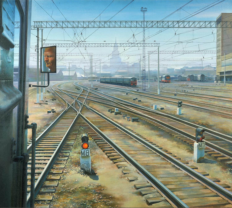 スーパーリアリストは現実と幻想の従来の相反を打ち破った。/ペトロフ「カザン鉄道駅」(1981)、国立トレチャコフ美術館