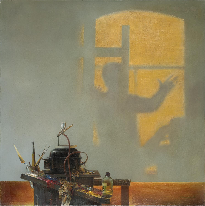 スーパーリアリストは、シュールレアリズムの帳で現実を覆いながら、リアリスティックな芸術を超えるものをつくりだしている。/キチギン「作業場の中央部」(1982)、国立トレチャコフ美術館