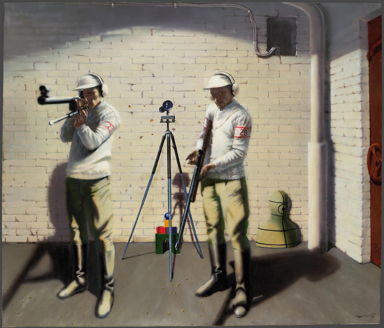 バジレフ「陸軍、空軍、海軍と連携するための志願兵たちの射撃場」、国立トレチャコフ美術館