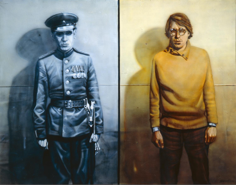 シェルスチュク「父と私」(1984)、国立トレチャコフ美術館