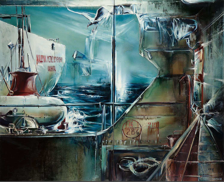 エルケン「バルト海の研究旅行」(1984)、国立トレチャコフ美術館