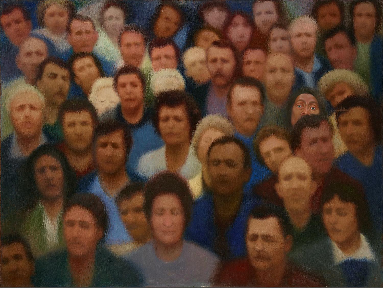 グリュシス「顔」(1986)、国立トレチャコフ美術館