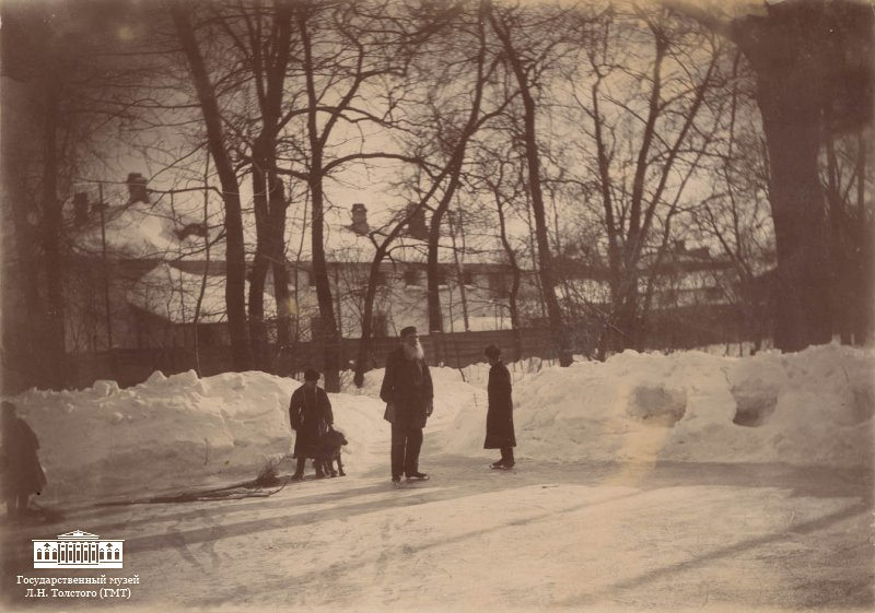 "The exhibition ""A Different Tolstoy"" runs until 31 December 2015 at the State Tolstoy Museum in Moscow, St. Prechistenka, 11/8 //  Tolstoy skating in the garden, March 1898 Moscow. Photo by Sofia Tolstoy"