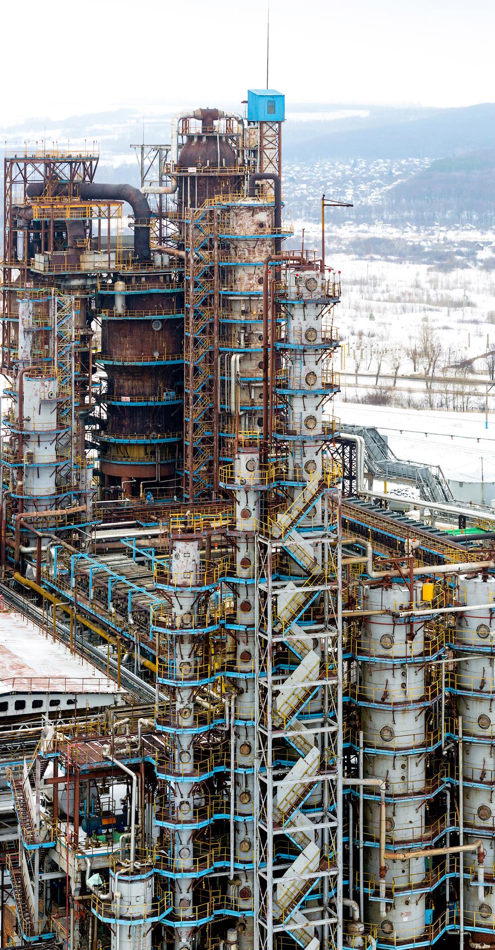Ukupni kapacitet Bašneftovog kompleksa za rafiniranje nafte iznosi više od 24 milijuna tona godišnje.