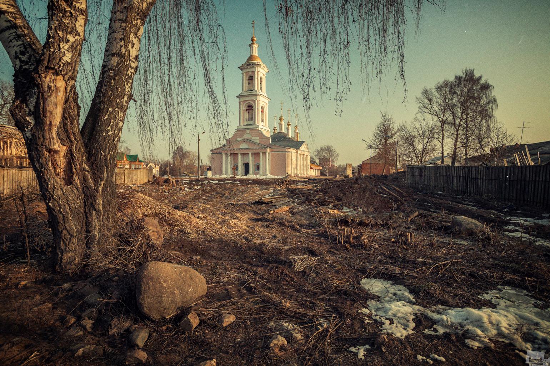 Himmelfahrtskirche in Kimry der Region Twer.