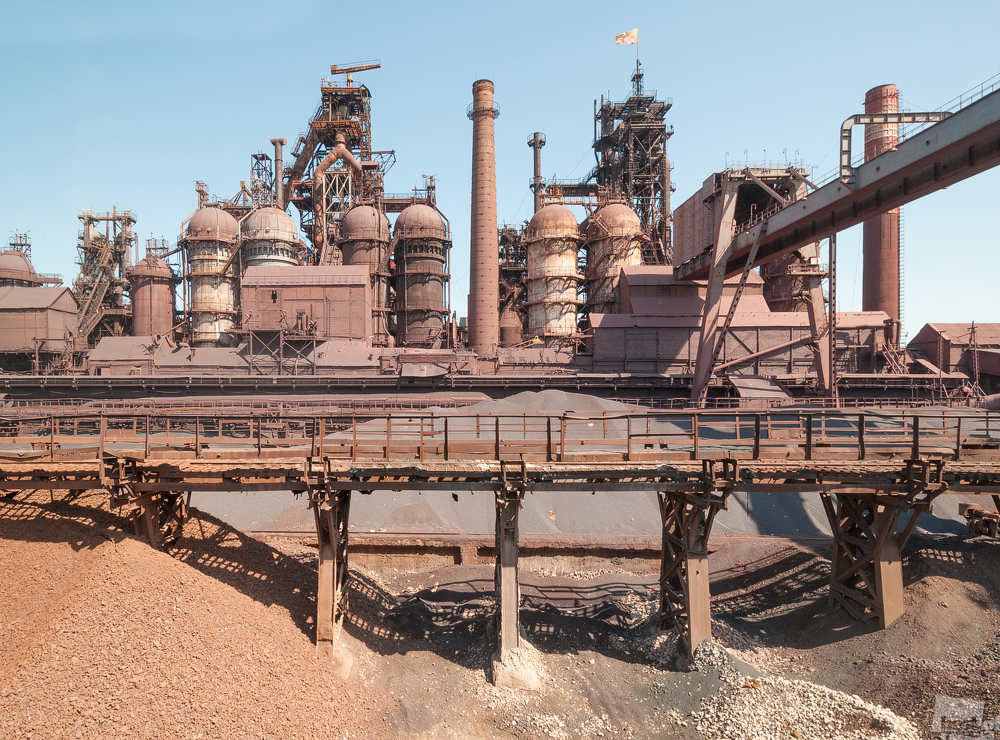 Hochöfen des Stahlwerkes in Kosogorsk.