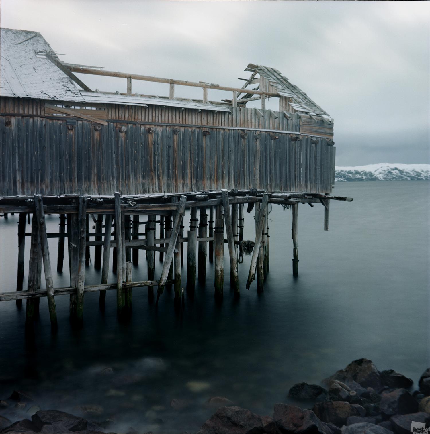 """Dieses Foto wurde am Ufer der Barentsee geschossen, wo der für den Oscar 2015 nominierte """"Leviathan"""" von Andrej Swjaginzew gedreht wurde. Dorf Teriberka, Region Murmansk."""
