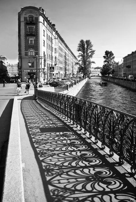 Demidow-Brücke über den Grobojedow-Kanal in Sankt Petersburg.