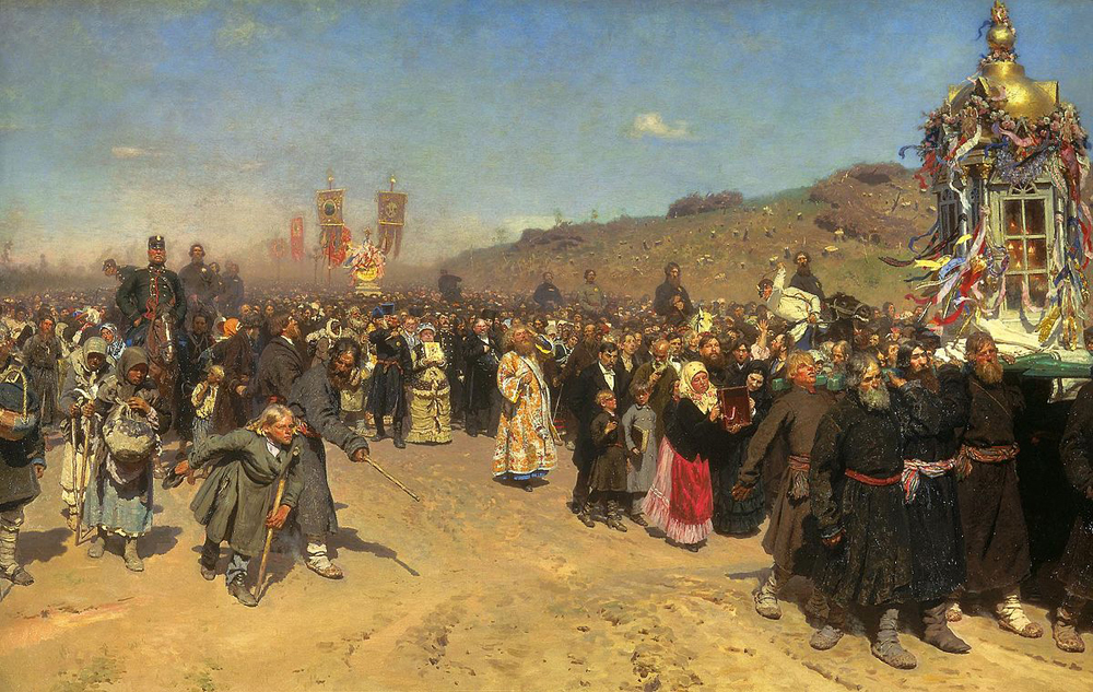 "Ilya Repin. ""Religious procession in Kursk province"" 1883"