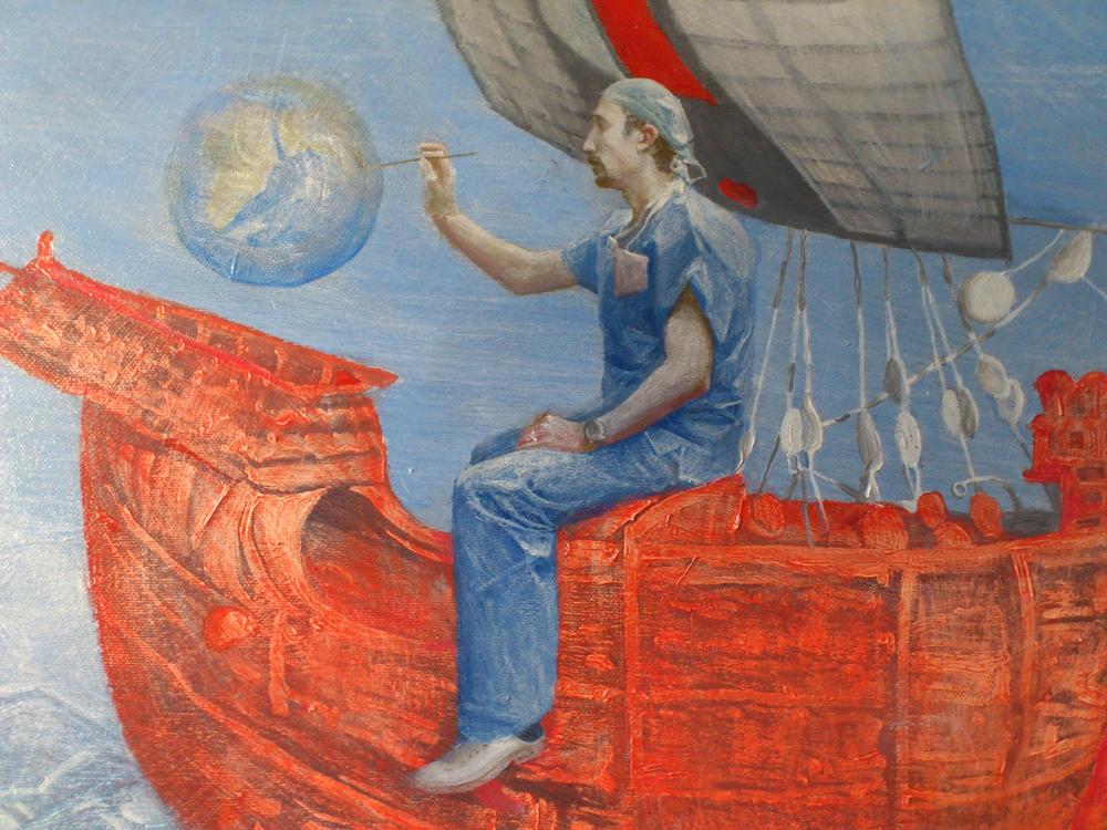 """Molti lavori di Anastasia si trovano in collezioni private a Mosca e Roma. Ha vinto alcuni premi e allestito mostre personali // """"Marco di Chiaro"""", dipinto a olio, 2012"""
