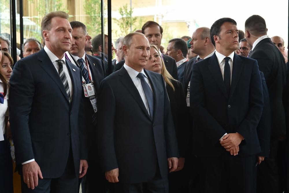 La visita all'Expo si è conclusa con una conferenza stampa al Padiglione Italia, prima del viaggio di Putin verso Roma per incontrare il Papa e il Presidente Sergio Mattarella