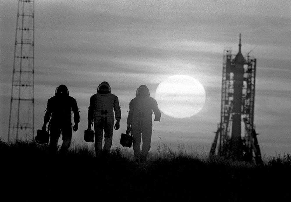 """1980年、宇宙へ""""出勤""""。"""