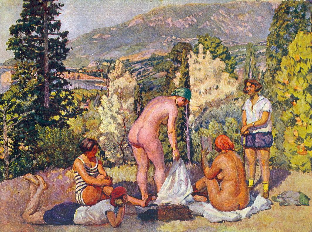 Слънчева баня в Крим, Иля Машков, 1920 г.