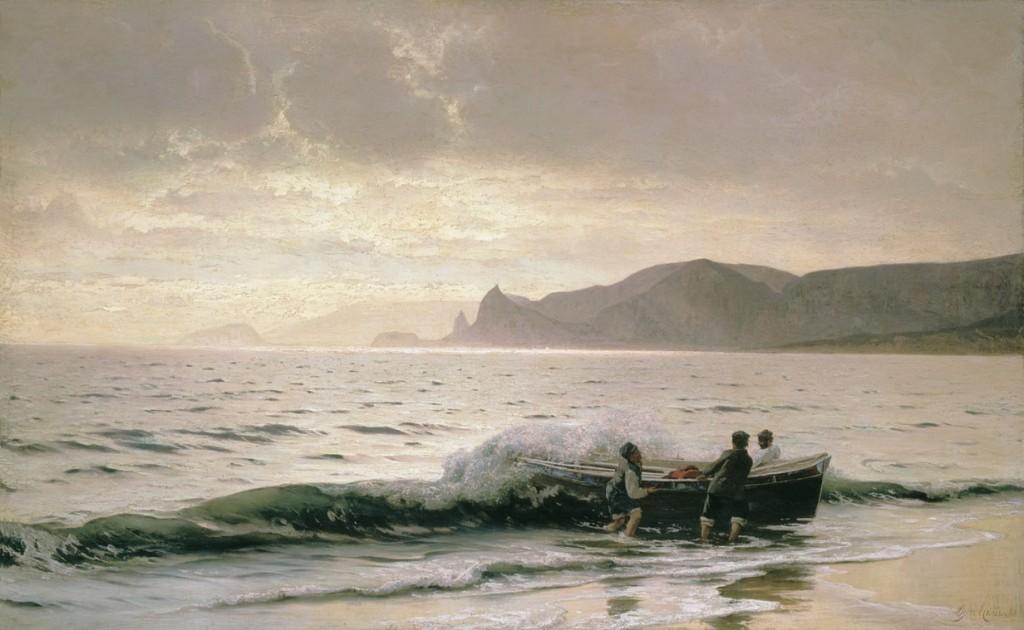 Морски бряг близо до Судак, Володимир Орловски, 1889 г.