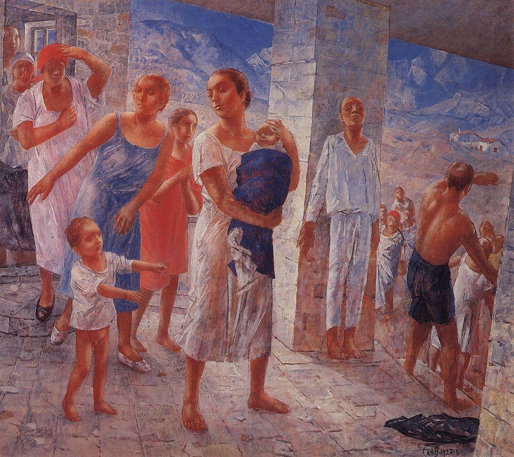 Земетресение в Крим, Кузма Петров-Водкин, 1928 г.