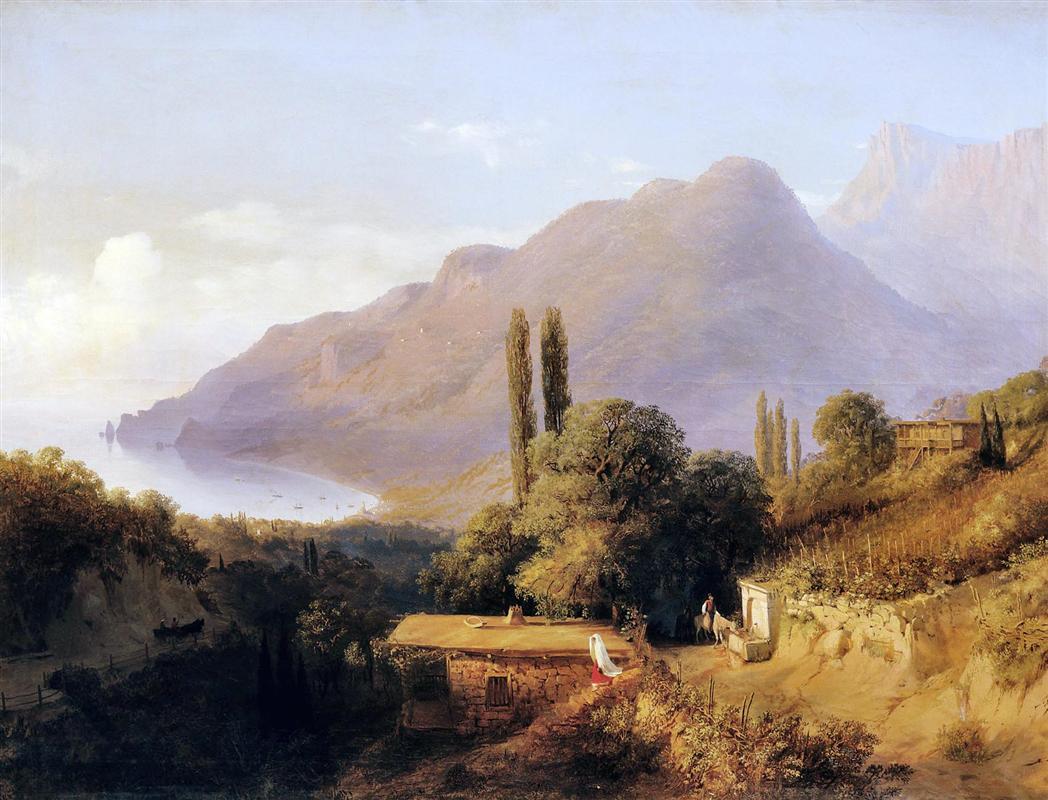 Кримски пейзаж, Лев Лагорио, 1891 г.