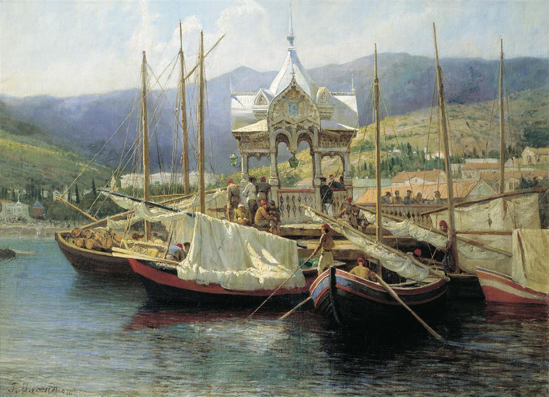 Кей в Ялта, Григорий Мясоедов, 1890 г.
