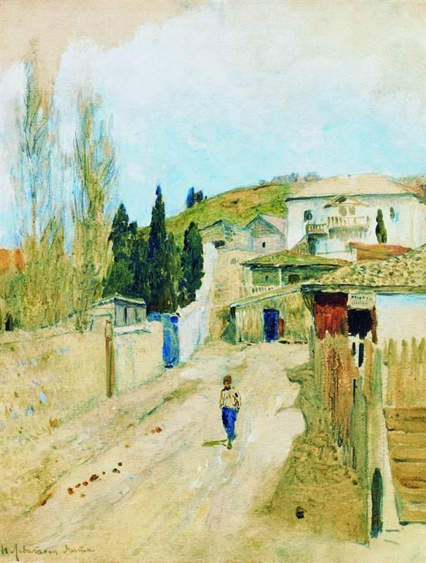 Улица в Ялта, Исак Левитан, 1886 г.