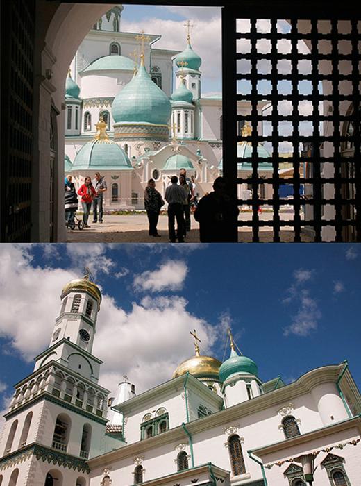 Das Kloster Neu-Jerusalem wurde 1656 von Patriarch Nikon gegründet. Sein Design wurde von der berühmten Auferstehungskirche in Jerusalem inspiriert. Nikon hatte geplant, eine ganze Reihe heiliger Orte in dem Moskauer Vorort Istra zu erbauen, die die heiligen Orte in Palästina nachahmen sollten.