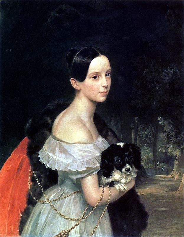 何世紀もの期間を通じて様々な変化が生じたが、ある一つのことだけは常に不変だった。それは、ロシア女性が芸術的なインスピレーションの源となったということだ。/ 『U.M. スミルノワの肖像』1841年 カルル・ブリュロフ