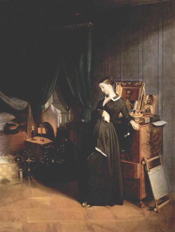 """8/16. Сликар реалиста Павле Федотов насликао је младу жену скрхану болом због мужевљеве смрти. """"Удовица"""", Павле Федотов, 1851-1852."""