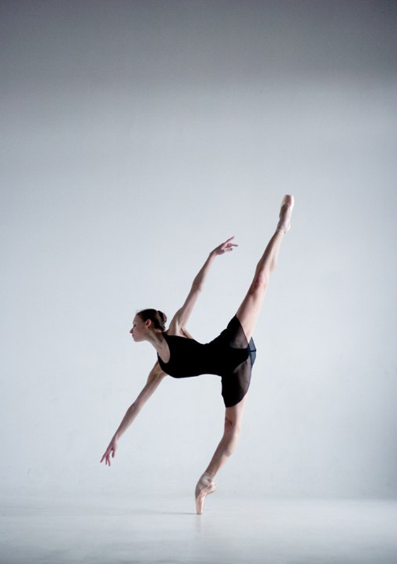 Anastasia Lukina beim Tanzen.