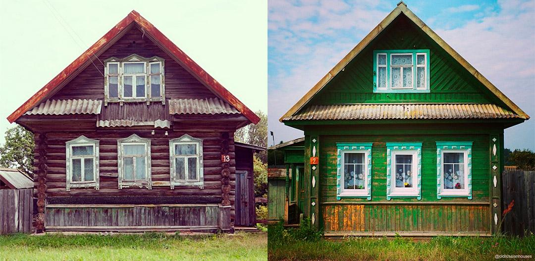 2/8. Фотографије приказују традиционална здања каквих је све мање у руским селима.