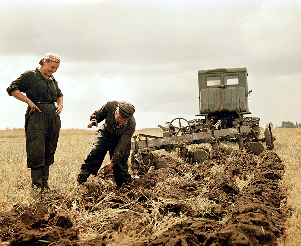 農場での作業