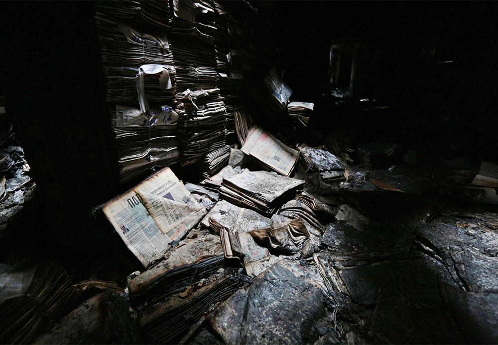 2015年1月末に、モスクワのロシア科学アカデミー付属の社会科学学術情報研究所の図書館で火災が発生した。その結果、蔵書が保管されていた主な書庫が焼失した。暫定的な推定によると、500万冊に上る蔵書が焼失したが、これは正確に算出されたわけではない。