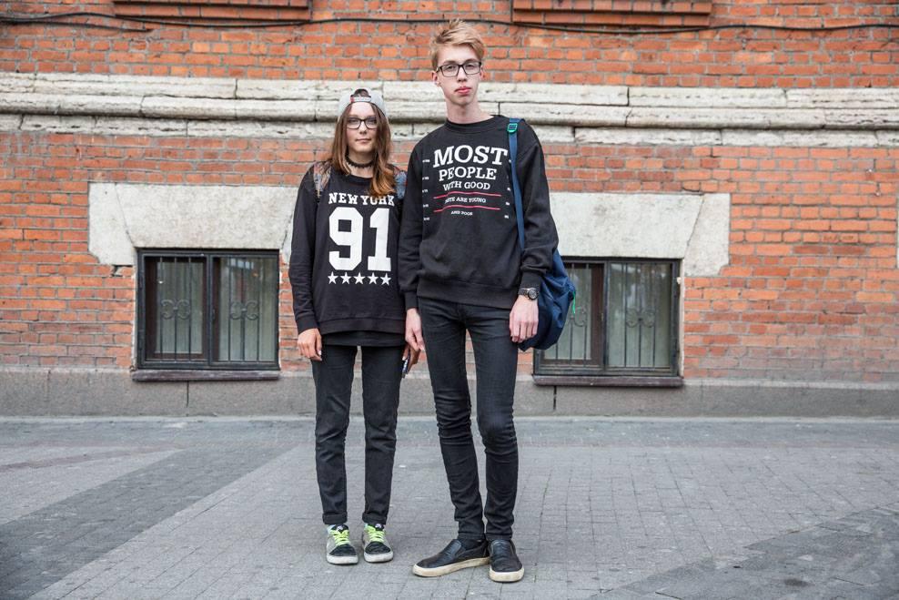 Средношколци од Санкт Петербург.