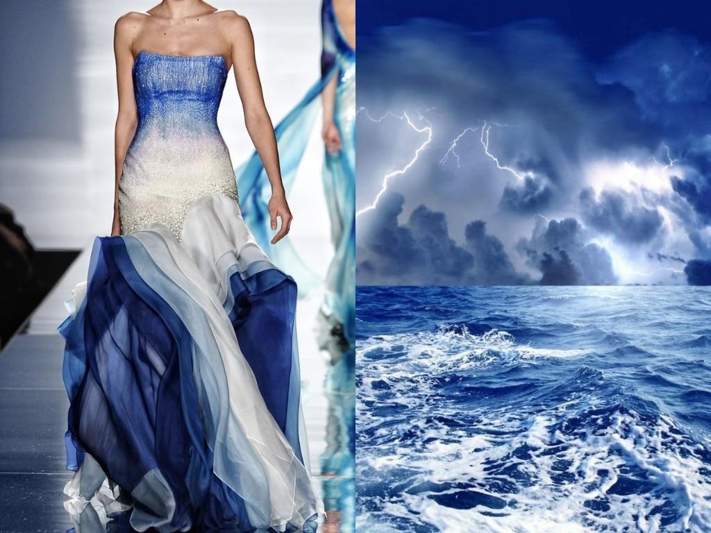 ラミ・アル・アリ・クチュール(2011年春夏)と海上の暴風。