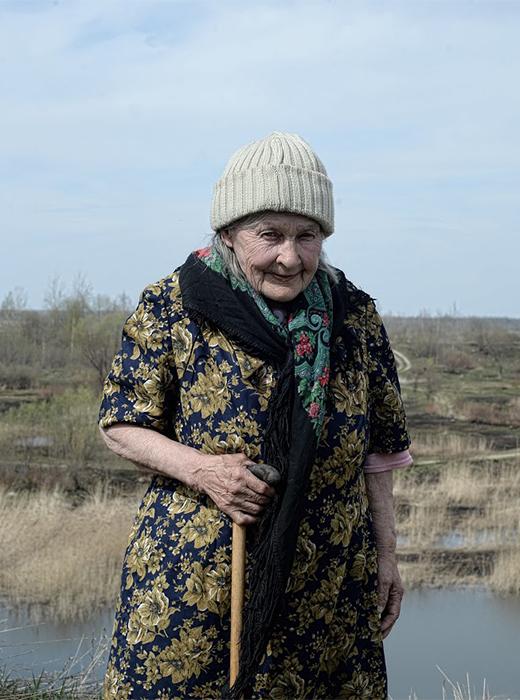 Jekaterina Koslowa, 83, hat auf einer Kolchose gearbeitet. Lebt seit drei Jahren in einem Pflegeheim, hat keine Kinder und ihre Schwester weigerte sich sie aufzunehmen.