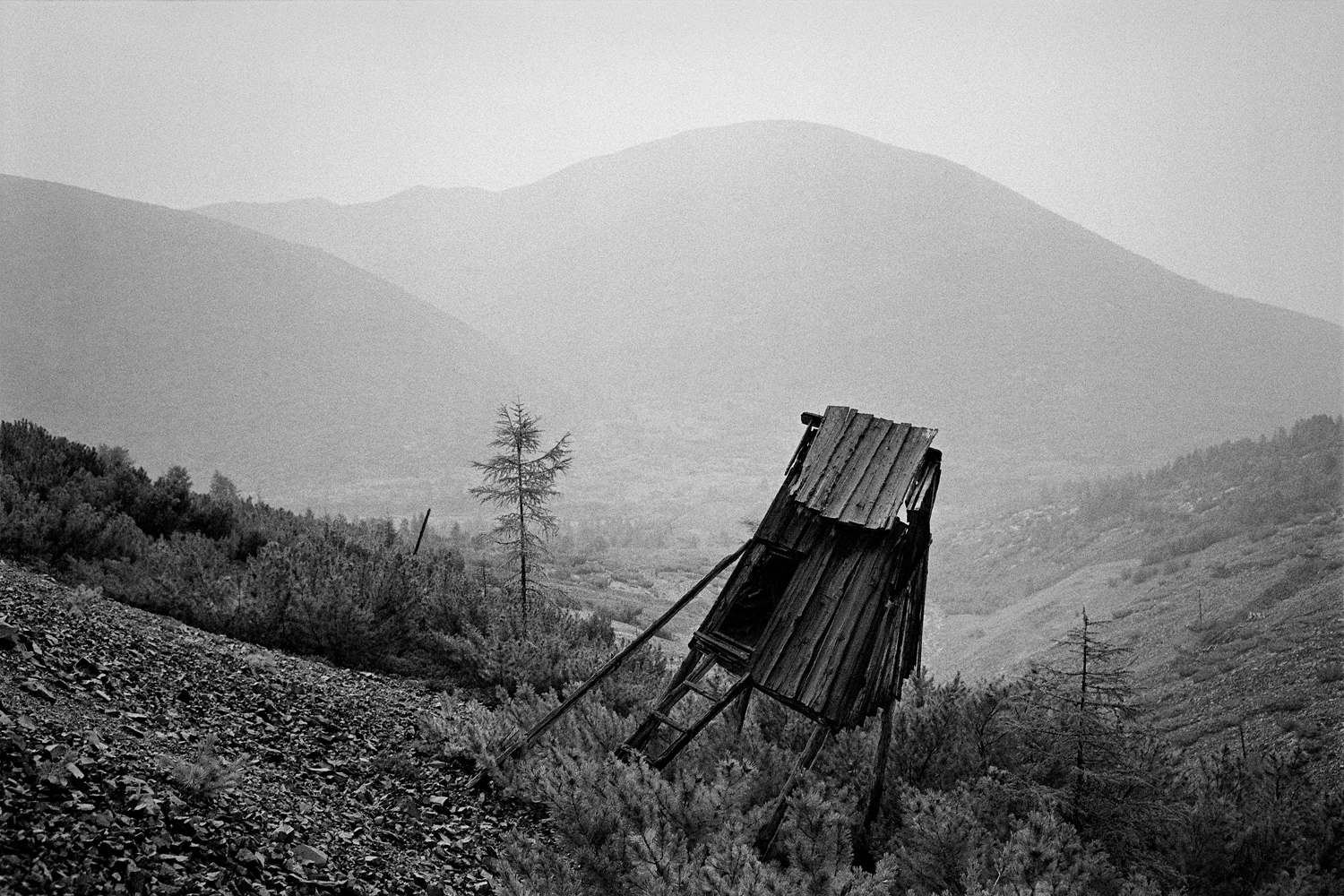 "Dneprovsky is one of the few extant camps of the Kolyma Gulag. From 1941 to 1955 there was a pit tin mine where ordinary prisoners, ""especially dangerous criminals"" and former Soviet POWs labored."
