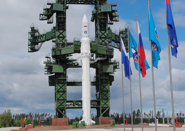 Angará instalado na plataforma de lançamento em Plesetsk Foto: Anton Novoderejkin/TASS