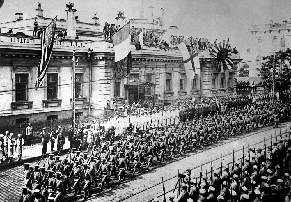 ロシア革命後の1918~1922年、日本および三国協商のシベリア出兵により、街も干渉対象となった。