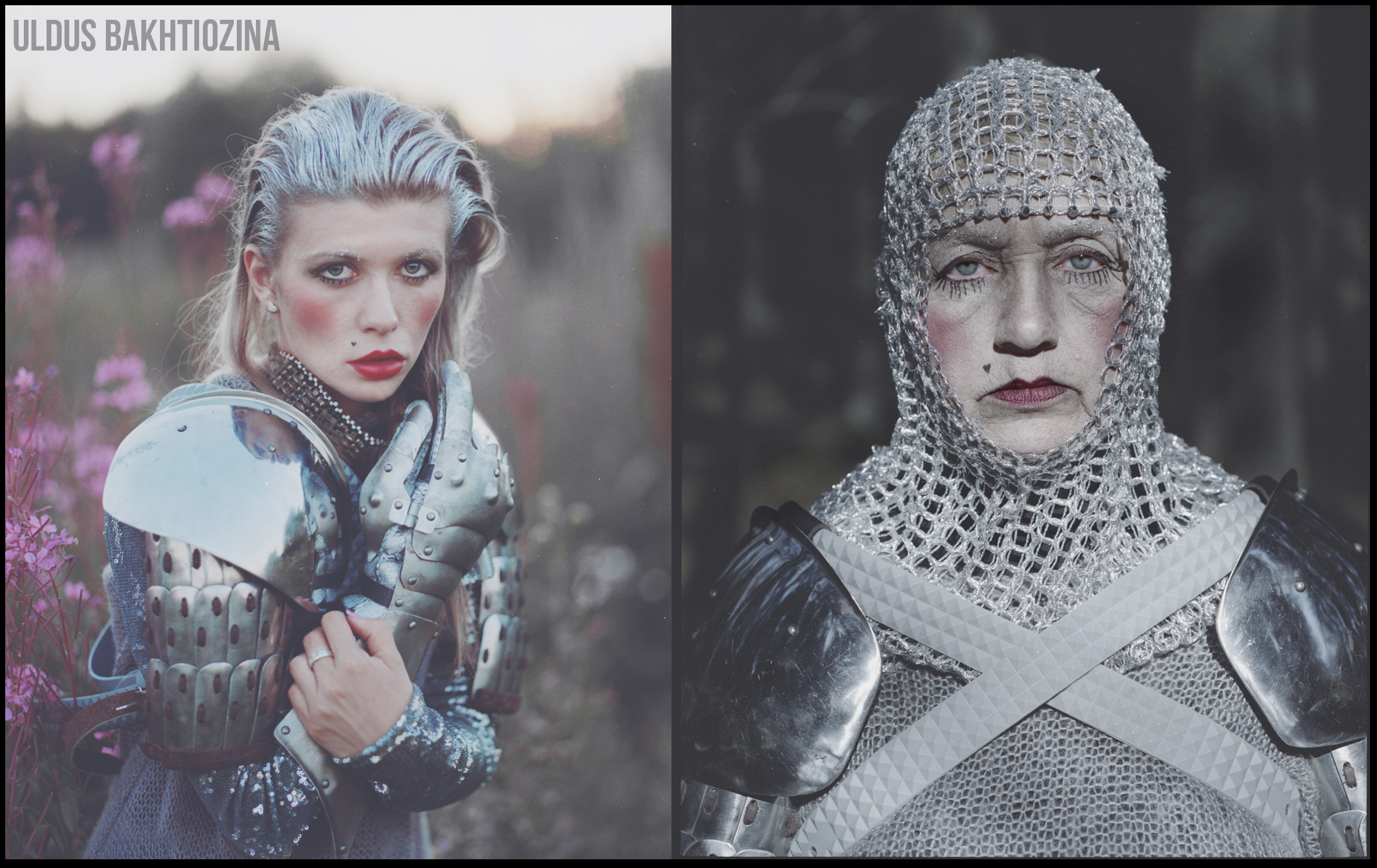 "This photo project, called ""Russ Land,"" is made by renowned photographer Uldus Bakhtiozina from St. Petersburg. She revamps the image of some of Russia's best loved fairy-tale characters.  // Vasilisa Mikulishna comes from a folk legend about a wise and courageous woman who dresses up as a man to save her husband's life. Early Slavic feminism in a nutshell."