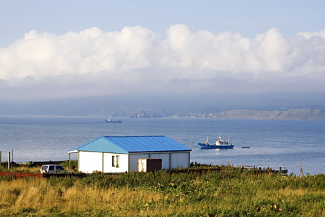 Kunashir, one of the southernmost of the Kuril Islands chain.