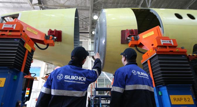 Modelo SSJ-100 possui atualmente motores Sam-146, projetados e produzidos por joint venture franco-russa