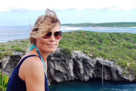 Natalja begann mit dem Freediving, als sie 40 Jahre alt war.