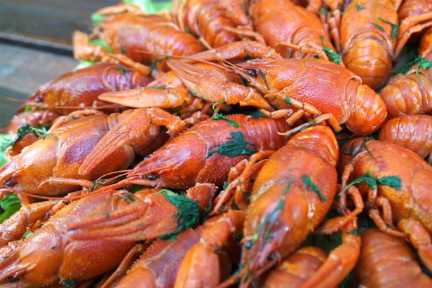 Delicious TV: Boiled crawfish, a perfect beer snack